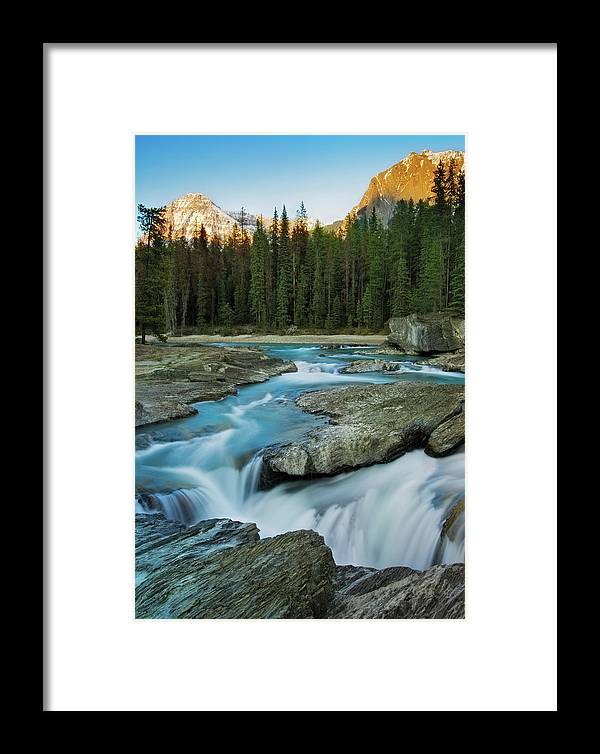 Kicking Horse River Framed Print featuring the photograph Kicking Horse River by Tasty Mountain Goodness