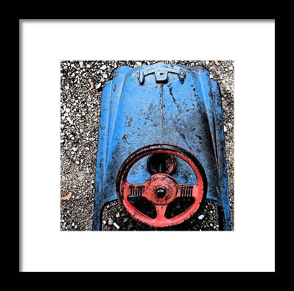 Nostalgic Framed Print featuring the photograph Kid Car by Gary Everson
