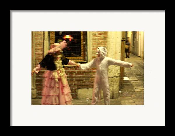 Venice Framed Print featuring the photograph Kids Dancing During Carnevale In Venice by Michael Henderson