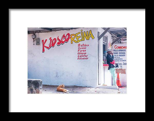 Panama City Framed Print featuring the photograph Kiesco Reina by Jessica Levant