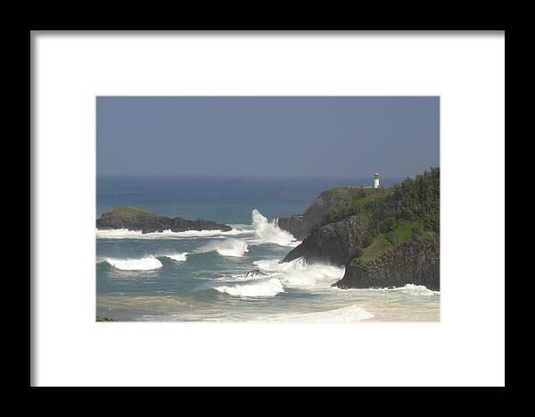 Kauai Framed Print featuring the photograph Kilauea Lighthouse by Andrew Pendleton