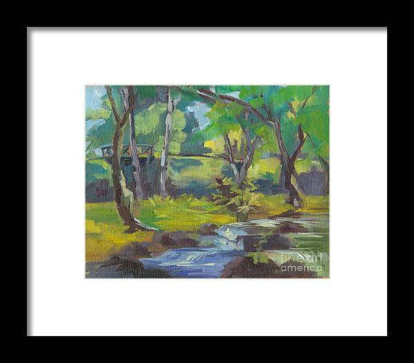 Framed Print featuring the painting Kilauea Stream by Cynthia Riedel