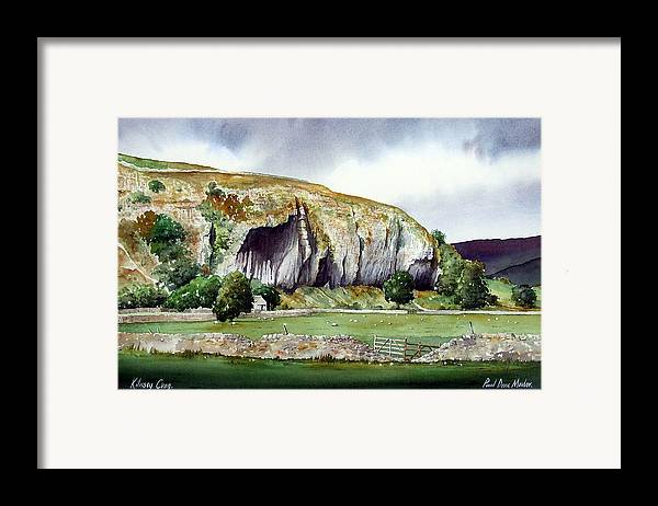 Landscape Framed Print featuring the painting Kilnsey Crag by Paul Dene Marlor