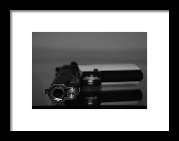 45 Auto Framed Print featuring the photograph Kimber 45 by Rob Hans