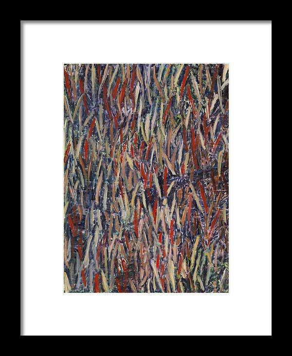 Abstract Landscape Aboriginal Australia Framed Print featuring the painting Kimberlylove by Joan De Bot