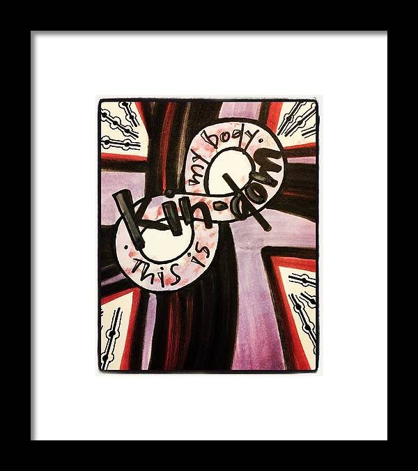 Kindom Framed Print featuring the painting Kin-dom by Vonda Drees