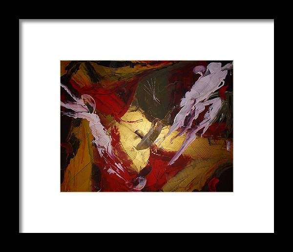 Original Framed Print featuring the painting Kindred Spirits by Joey Santiago