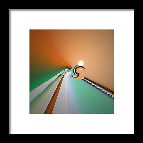Abstract Framed Print featuring the digital art Kinfluxing by Andrew Kotlinski