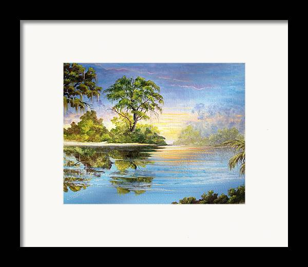 Landscape Framed Print featuring the painting King by Dennis Vebert
