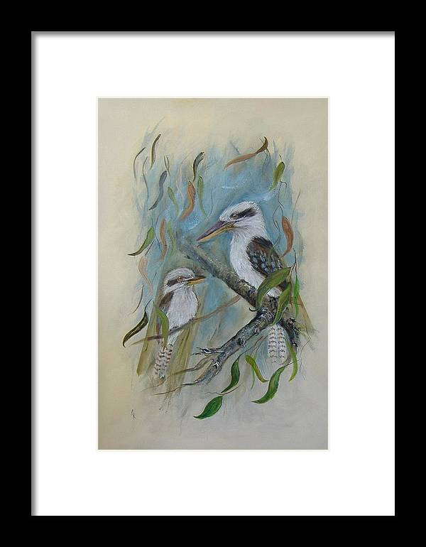 Birds Framed Print featuring the painting King Of The Woods by Rita Palm