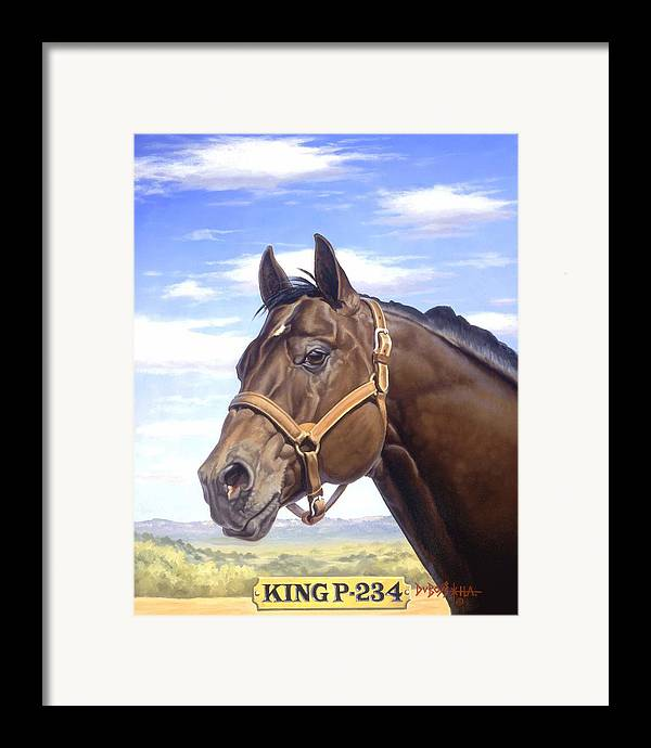 Quarter Horse Framed Print featuring the painting King P234 by Howard Dubois