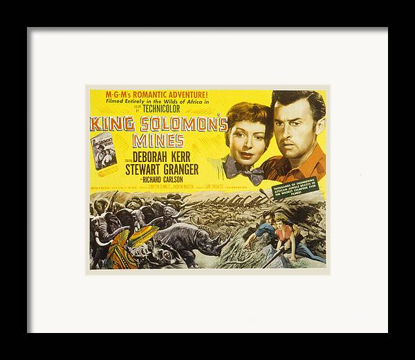 1950 Movies Framed Print featuring the photograph King Solomons Mines, Deborah Kerr by Everett