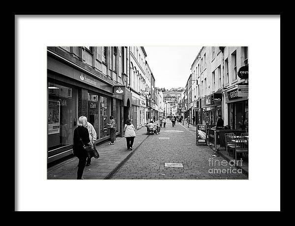 Whitehaven Framed Print featuring the photograph King Street Shopping Area Whitehaven Cumbria England Uk by Joe Fox