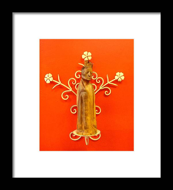 Figure Framed Print featuring the sculpture King by Victor Amor