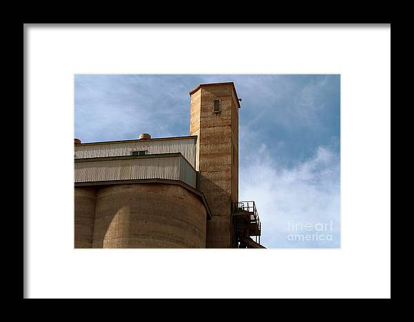 Silo Framed Print featuring the photograph Kingscote Castle by Stephen Mitchell