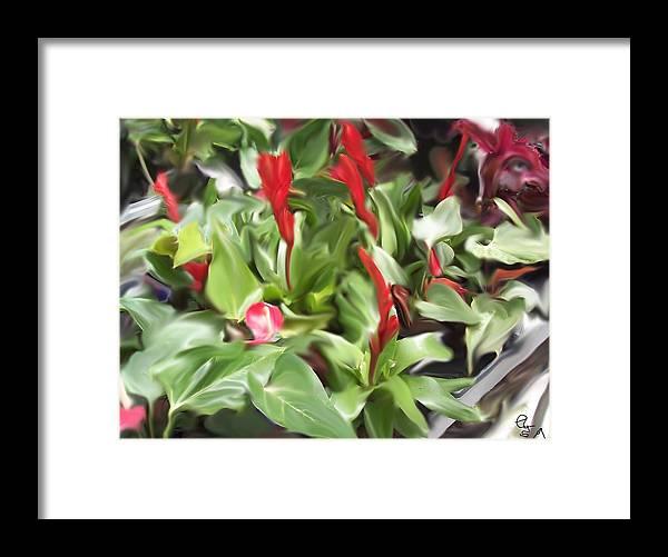 Flowers Framed Print featuring the digital art Kingwood Center 2 by Crystal Webb