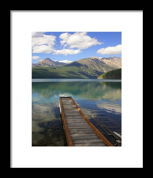 Glacier National Park Framed Print featuring the photograph Kintla Lake Dock by Marty Koch