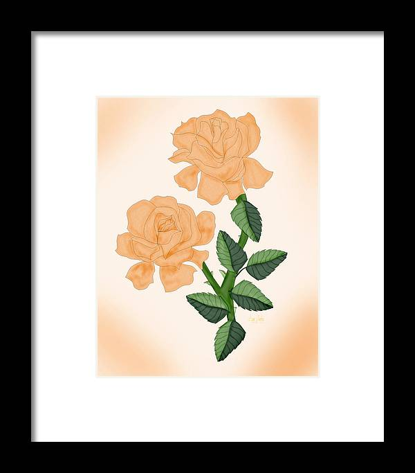 Rose Framed Print featuring the painting Kiss From A Rose by Anne Norskog