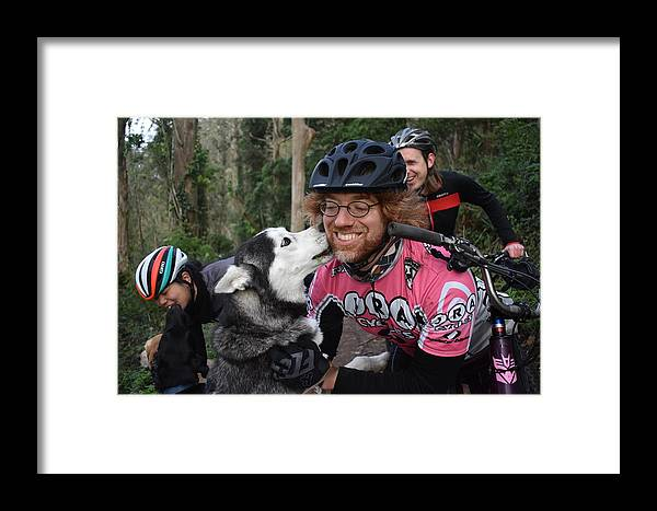 Dog Lover Framed Print featuring the photograph Kiss by Kathy Beyer