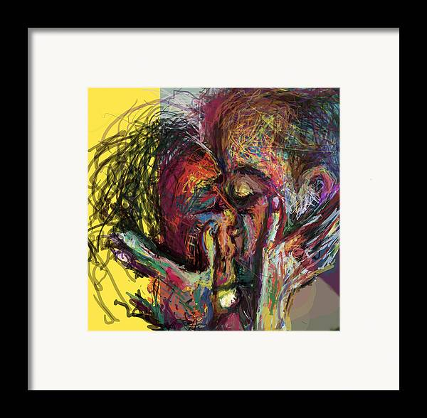 Physically Framed Print featuring the digital art Kiss Me You Big Dick by James Thomas