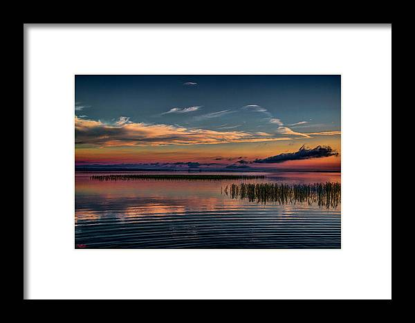 Florida Framed Print featuring the mixed media Kissimmee Twliight II by Rogermike Wilson
