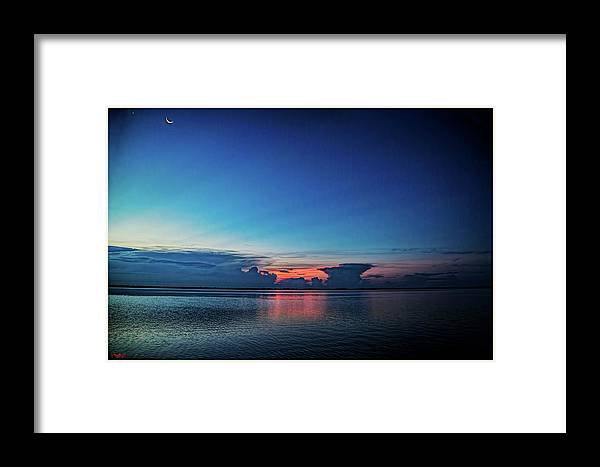 Florida Framed Print featuring the mixed media Kissimmee Twliight by Rogermike Wilson