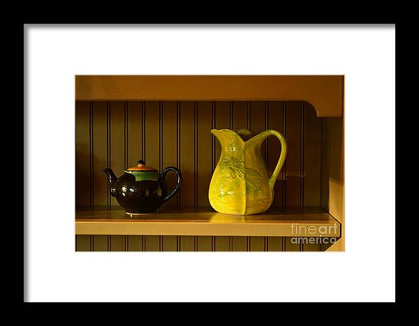 Kitchen Framed Print featuring the photograph Kitchen Cupboard by Gale Cochran-Smith