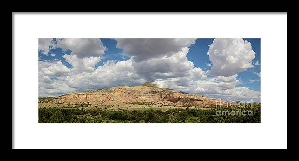 Mesa Framed Print featuring the photograph Kitchen Mesa Panorama by Dusty Demerson