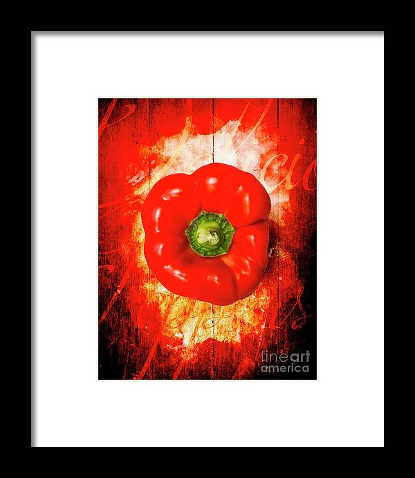 Kitchen Framed Print featuring the photograph Kitchen Red Pepper Art by Jorgo Photography - Wall Art Gallery