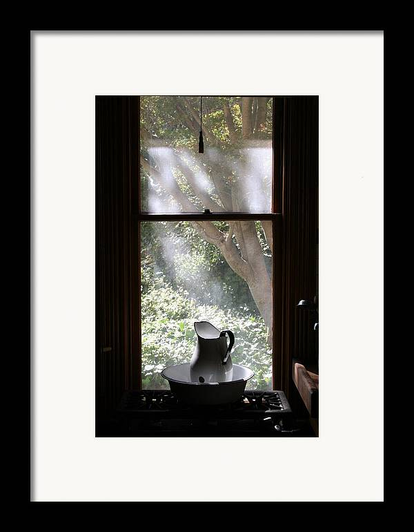 Still Life Framed Print featuring the photograph Kitchen Window by Brande Barrett