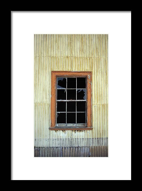 Broken Window Patagonia Chile Framed Print featuring the photograph Kitchen Window by Marcus Best