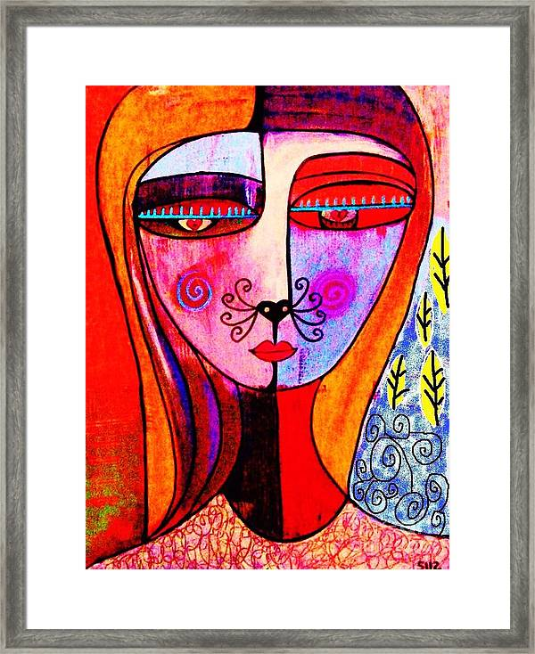 8 X 10 Canvas Print Sandra Silberzweig Tribal Man and Woman with Cats