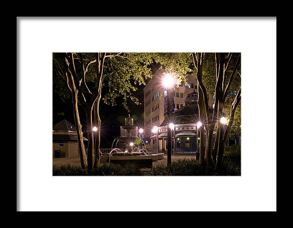 Color Photograph Framed Print featuring the photograph Kleman Plaza by Wayne Denmark