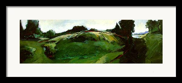 Landscape Framed Print featuring the painting Klimt by Dale Witherow