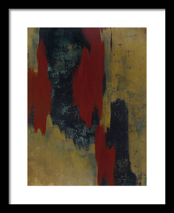 Abstract Framed Print featuring the painting Kline 1 by Wayne Berger
