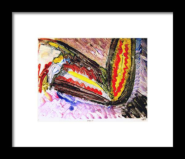 Neo Expressionism Framed Print featuring the painting Knee by John Toxey