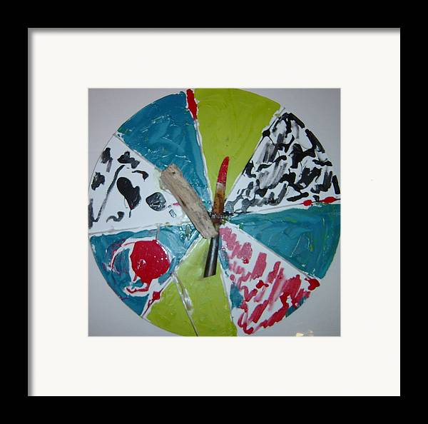 Framed Print featuring the painting Knife And Beachfindings by Biagio Civale