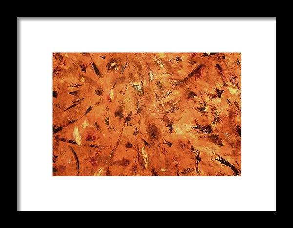 Abstract Framed Print featuring the painting Knife Technique by Guillermo Mason
