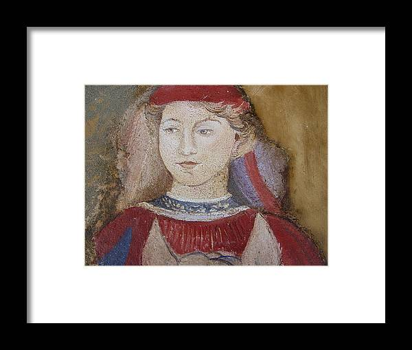 Fresco Framed Print featuring the painting Knight by Maria Grazia Repetto