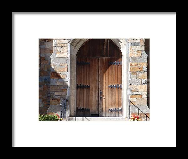 Door Framed Print featuring the photograph Knock And It Will Open by Robyn Leakey