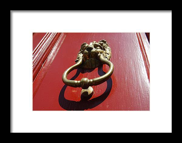 Door Framed Print featuring the photograph Knock Knock by Jennifer Lauren