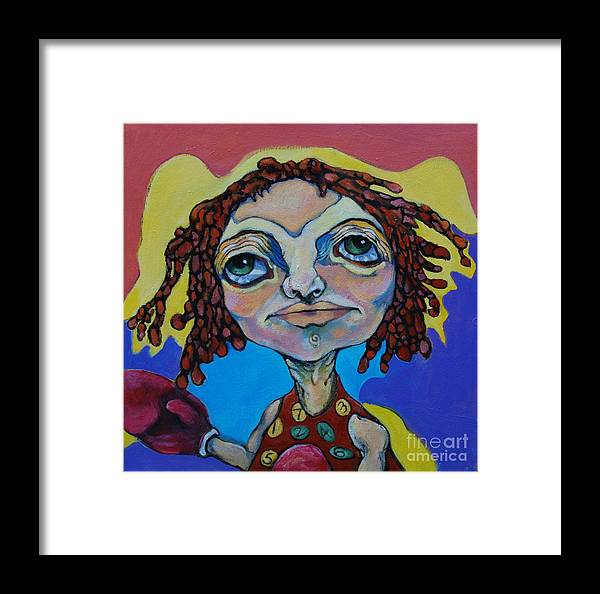 Circle Head Framed Print featuring the painting Knock Out by Michelle Spiziri