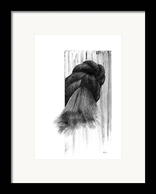 Knot Framed Print featuring the drawing Knot by Brent Ander