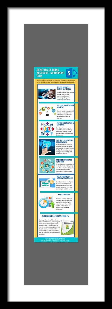 Sharepoint 2016 Framed Print featuring the digital art Know About The Benefits Of Using Microsoft Sharepoint 201 by Edwards Paul