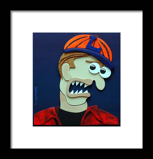 Funism Framed Print featuring the sculpture Know It All by Sal Marino