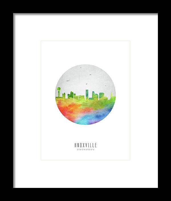 Knoxville Skyline Ustnkx20 Framed Print by Aged Pixel
