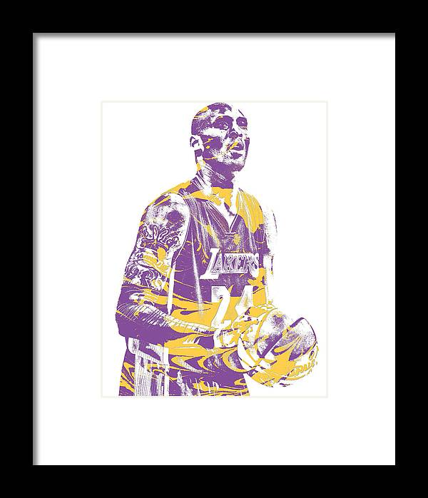 Kobe Bryant Los Angeles Lakers Pixel Art 22 Framed Print by Joe Hamilton