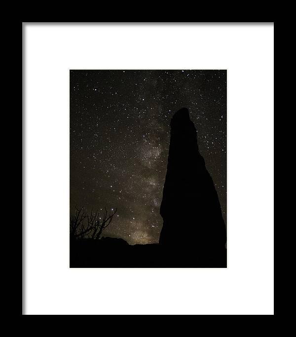 Kodachrome Framed Print featuring the photograph Kodachrome Basin Night Sky 2930 by Bob Neiman