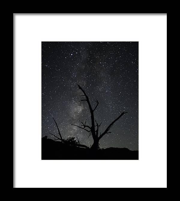 Kodachrome Framed Print featuring the photograph Kodachrome Basin Night Sky 2957 by Bob Neiman