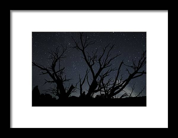 Kodachrome Framed Print featuring the photograph Kodachrome Basin Night Sky 2963 by Bob Neiman